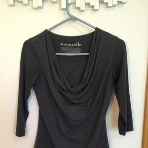 Tops - XS (fits like S) Momzelle cowl nursing top
